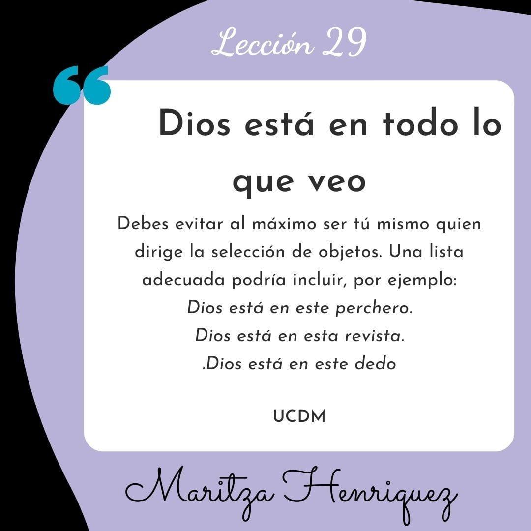 UCDM Leccion 29