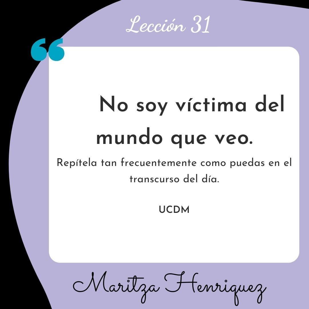 UCDM Leccion 31