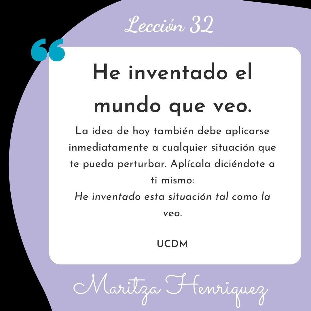 UCDM Leccion 32