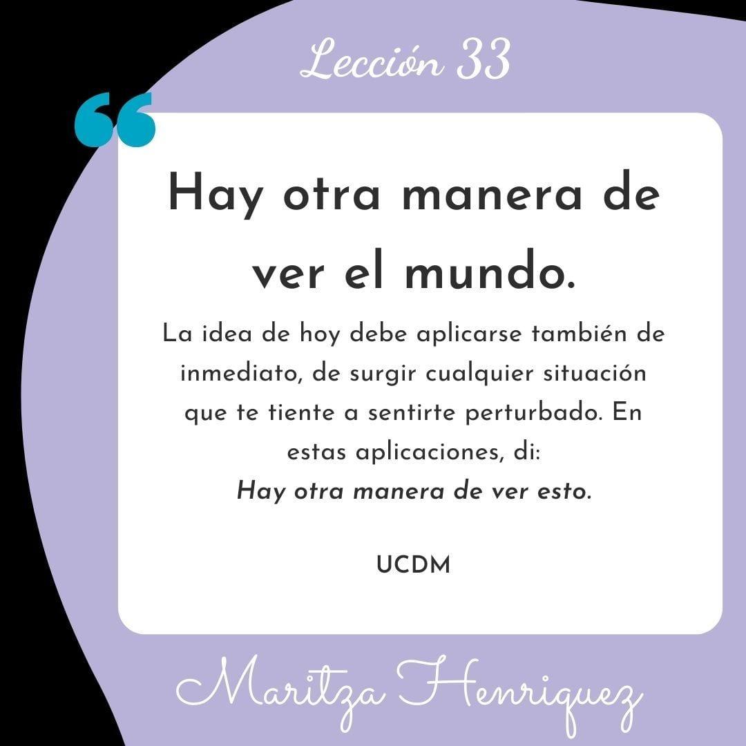 UCDM Leccion 33
