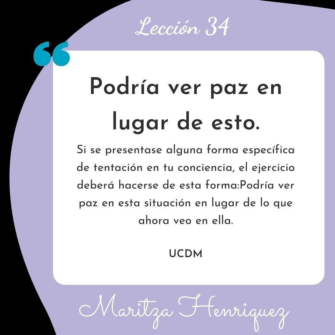 UCDM Leccion 34