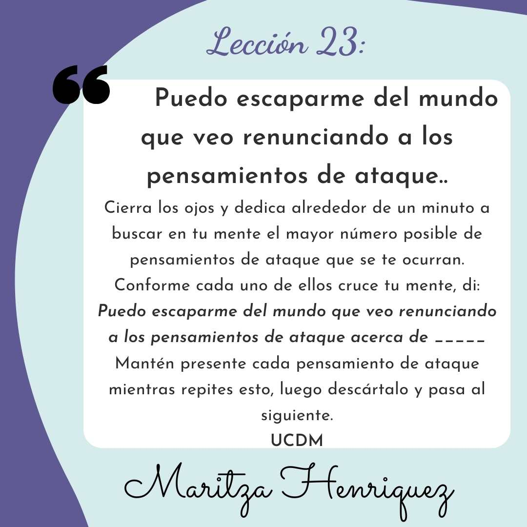 UCDM Lecion 23