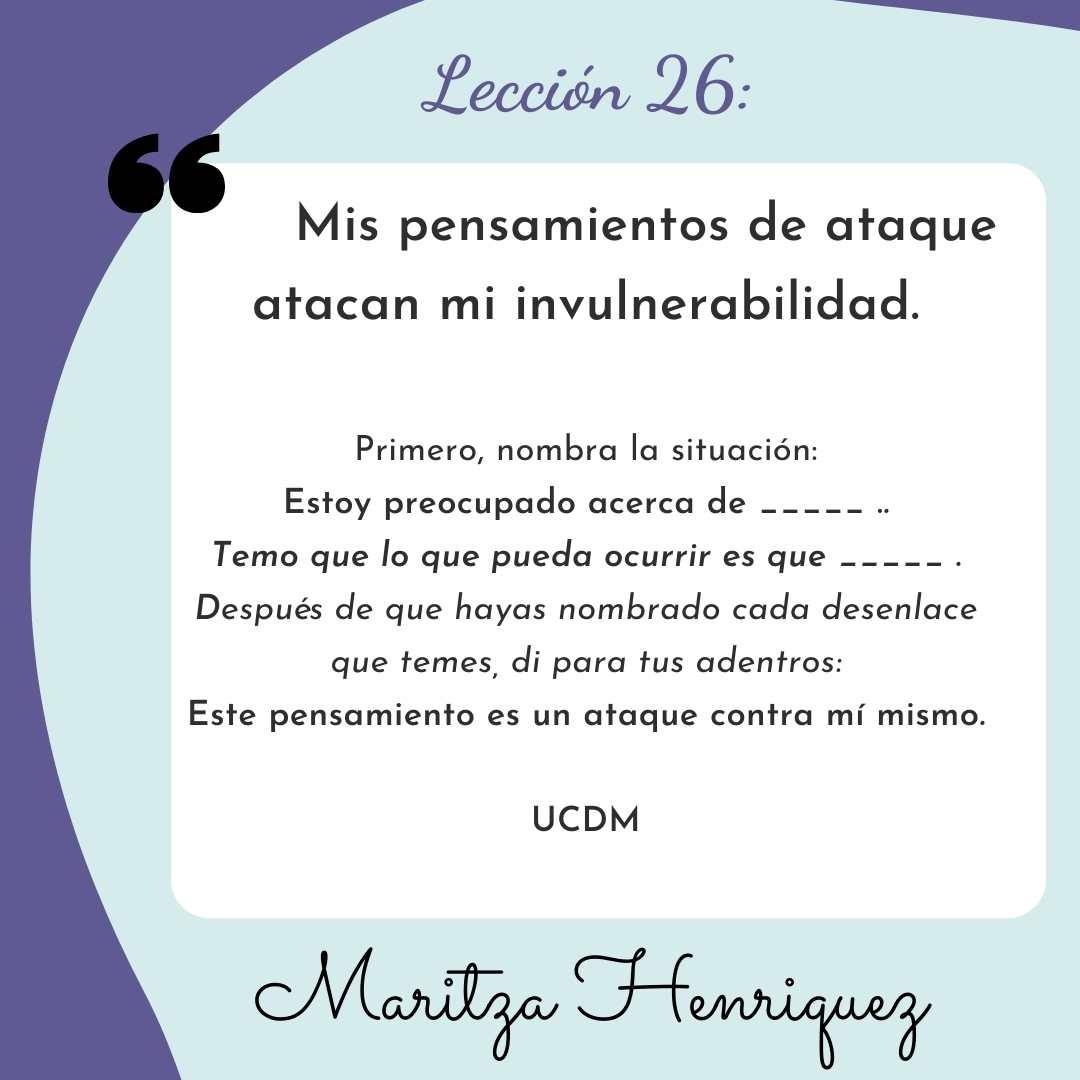 UCDM Lecion 26