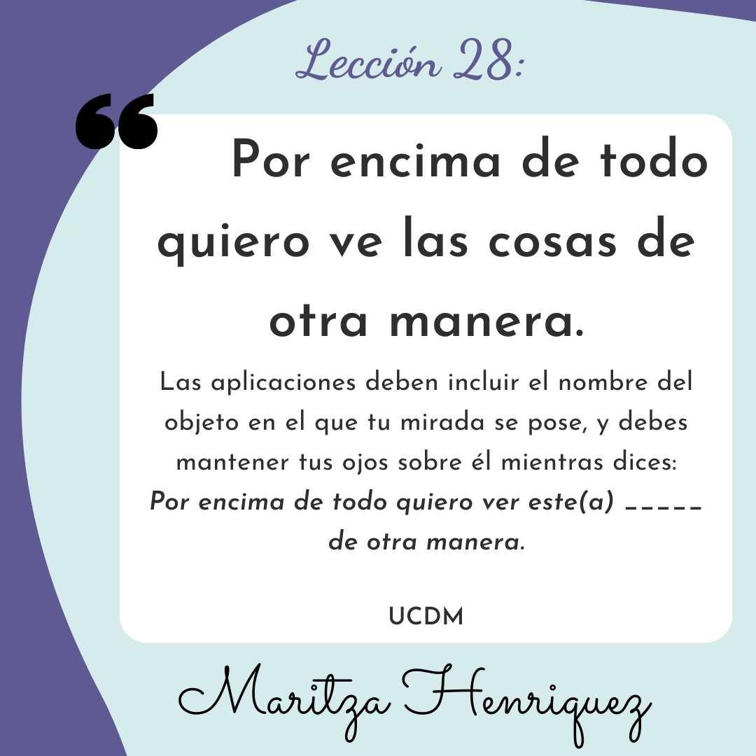 UCDM Lecion 28