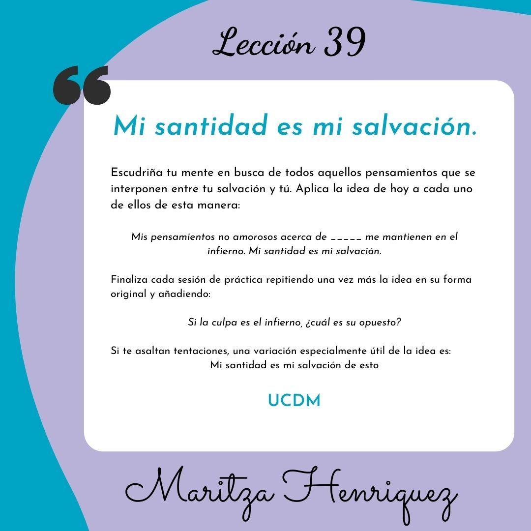 UCDM Leccion 39
