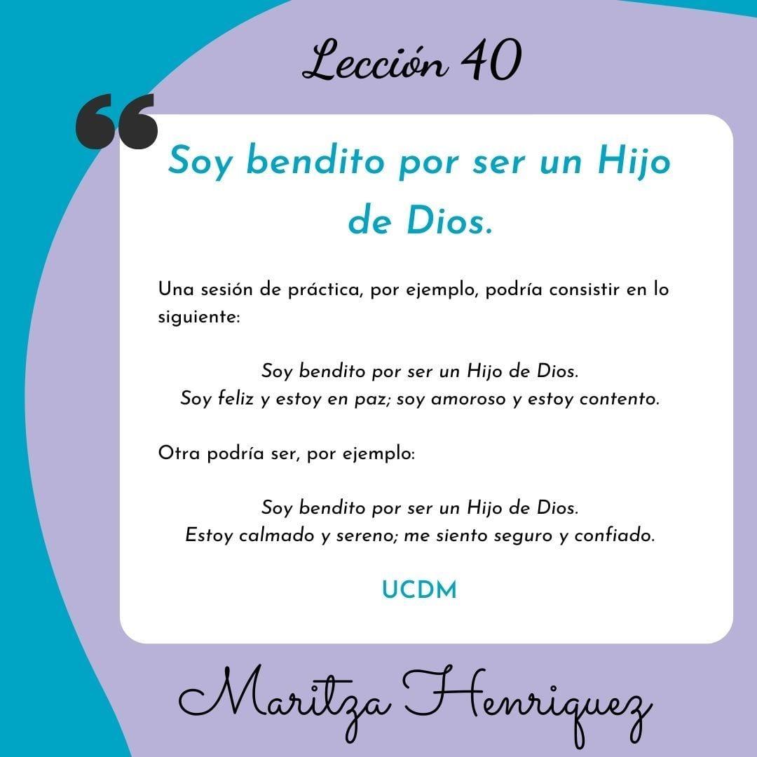 UCDM Leccion 40