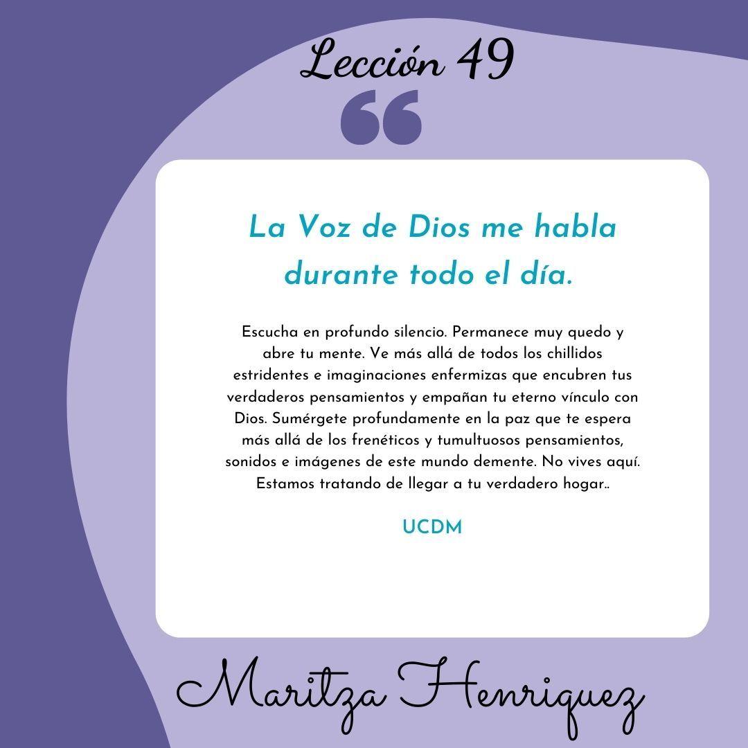 UCDM Leccion 49